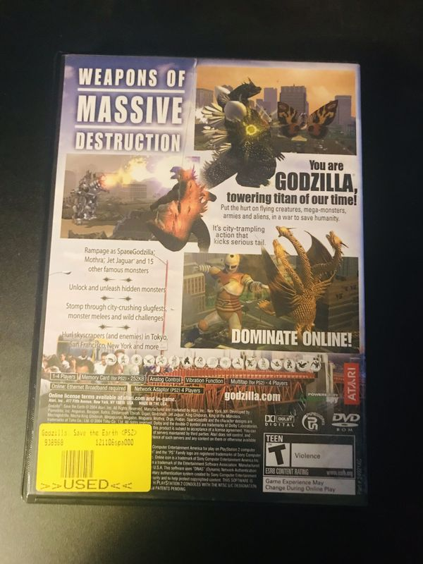 PlayStation 2 PS2 Godzilla Save The Earth Video Game for Sale in Vernon, CT  - OfferUp