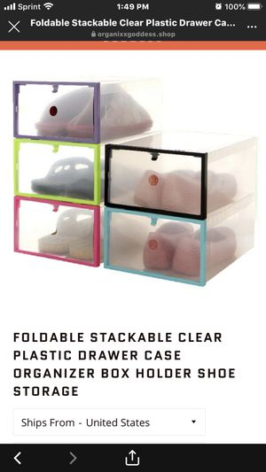 stackable shoe storage containers for Sale in Fairburn, GA