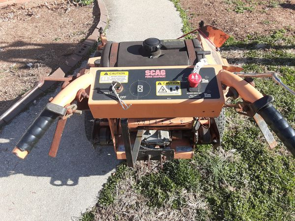 """48"""" scag belt drive ready to work this machine works excellent. And have new front tires new blades new belts new blades switch and key inicion"""