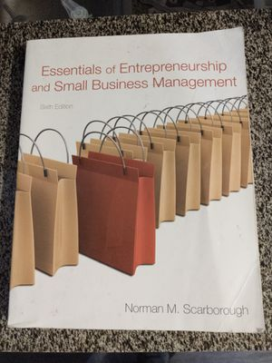Essentials of Entrepreneurship and Small Business Management book for Sale in Corinth, TX