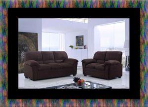 Chocolate microfiber sofa and loveseat for Sale in Manassas, VA
