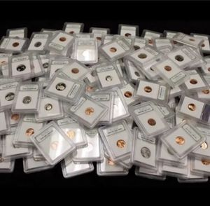 Huge 50 Valuable Professionally Graded and Slabbed Old 1940s-2000's US Coins- Variety Of Denominations- Many BU Brilliant Uncirculated Coins! for Sale in Herndon, VA
