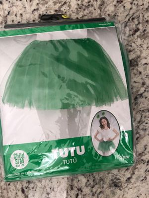 Green costume Tutu skirt for Christmas or Halloween. I have 2 of them. Fit child and slim teen for Sale in Miami, FL