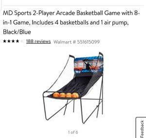 Kids Basketball goal game. NEW IN BOX. MD Sports 2-Player Arcade Basketball Game with 8-in-1 Game: for Sale in Shawnee, OK