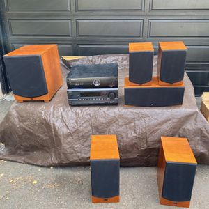 Aperion Audio Home Theatre System Set - Cherry Wood for Sale in Oakland, CA