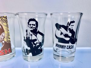 Johnny Cash collectible shot glasses, set of 4. for Sale in Waterloo, IL