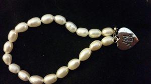 Pearl like silver charm bracelet for Sale in Phoenix, AZ