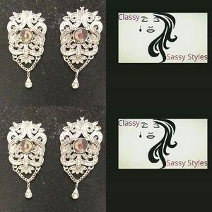 Silver diamond earrings for Sale in Decatur, GA