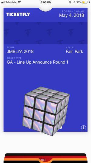 2018 JMBLYA Ticket for sale for Sale in Dallas, TX