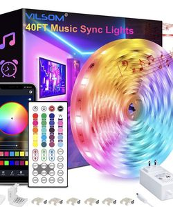 40 Feet Led Strip Lights, Smart APP Control with Remote ‼️Music Sync‼️ Led Lights for Sale in El Cajon,  CA