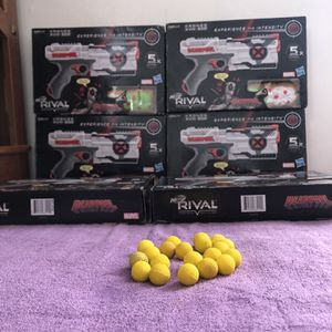 Six Nerf Rival Deadpool Guns With 20 extra rounds for Sale in West Covina, CA