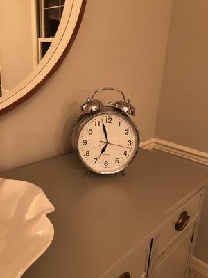 "LARGE CHROME ALARM CLOCK! 12"" TALL! RETRO! for Sale in Redmond, WA"