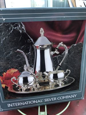 silver coffee set for Sale in Campbell, CA