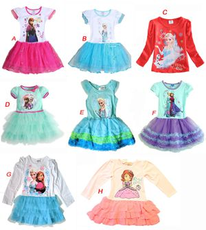 New Frozen Elsa Anna Sophia the First Dresses for Baby Girls Kids Toddlers for Sale in Boston, MA