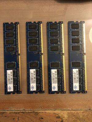 Nanya Computer Ram - DDR2 - 1GB x (4) for Sale in Gardena, CA