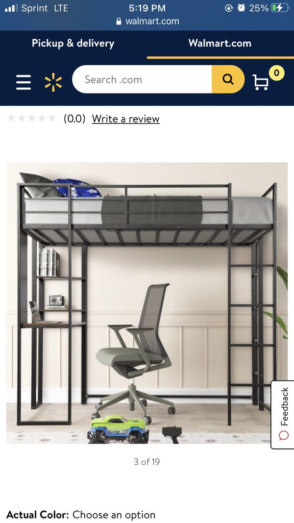 Black Loft Bed With Desk