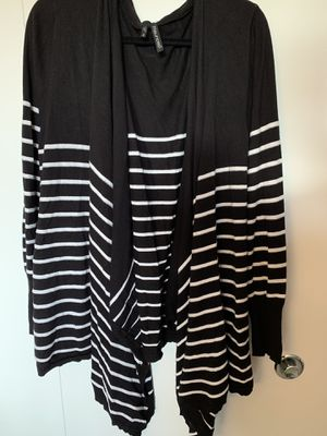 Maurice's Plus Size black and white striped cardigan for Sale in Monroeville, PA
