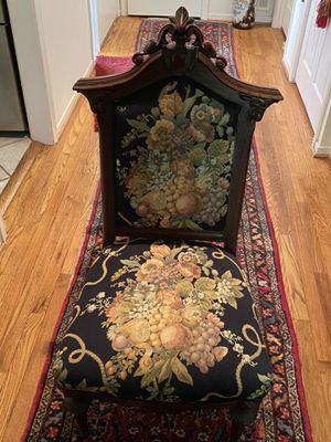 Antique chair - needlepoint- great condition. for Sale in Herndon, VA