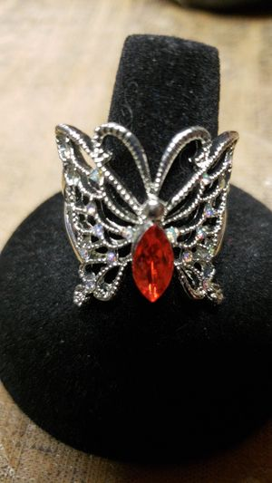 Butterfly silver ring size 10 for Sale in Farmville, VA