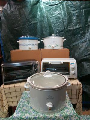 Bundle appliances - Crock Pots & Toaster Ovens for Sale in Delran, NJ