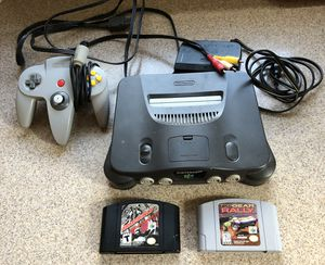 Nintendo N64, Controller, 2 Games, Cables for Sale in Columbus, OH