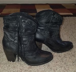 Black Fringe Booties by Naughty Monkey for Sale in Conroe, TX
