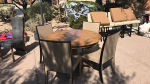 Table with 4 chairs leather for Sale in Scottsdale, AZ