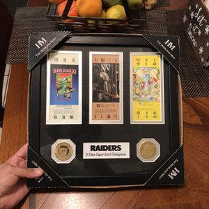 Oakland Raiders Super Bowl Championship Ticket Collection for Sale in Fremont, CA