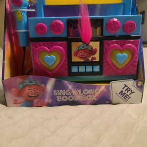 Trolls World Tour Sing Along Boombox for Sale in Magnolia, TX