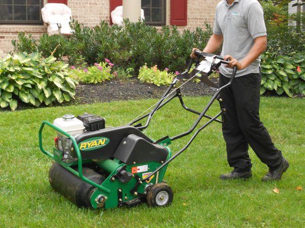 Aeration seeding fertilizer