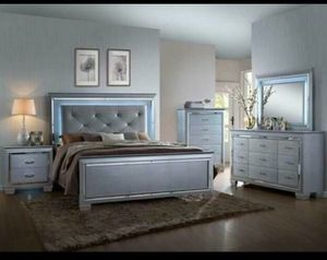 Beautiful led light up bedroom set for Sale in Austin, TX