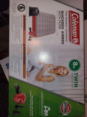 Twin air mattress with air pump for Sale in Phoenix, AZ