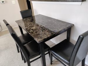 Dining table with 4 chairs for Sale in McLean, VA