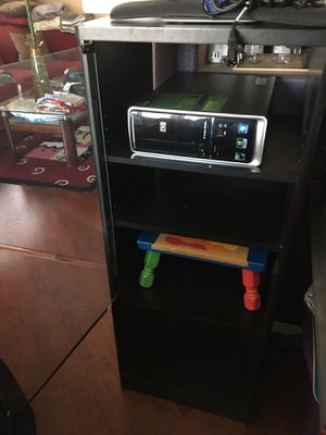 Tv stand / component storage glass and wood cabinet for Sale in Corona, CA