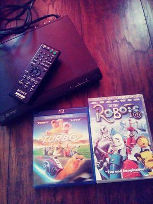 Sony dvd player w/remote Plus 2 Movies for Sale in Sacramento, CA