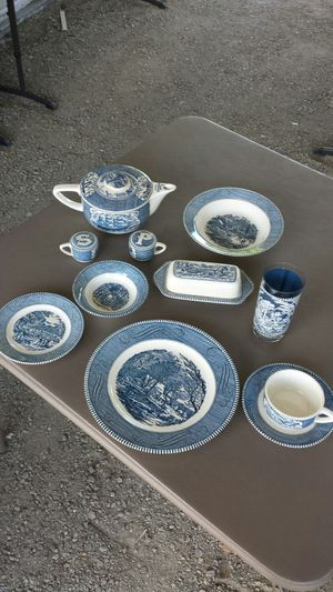 100 yr. Old Currier & Ives dishes settings for six. for Sale in Cashmere, WA