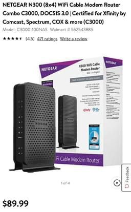 wifi cable modem router for Sale in Irvine, CA