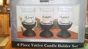 6 Piece Votive Candle Holder Set for Sale in Brooksville, FL