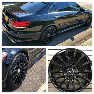 18 or 20 inches Mercedes Benz amg rims brand new gloss black wheels multispoke for Sale in Fairfield, NJ