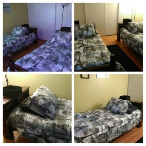 Twin size bunk beds , includes headboard, footboard, frame and mattress for Sale in Moreno Valley, CA