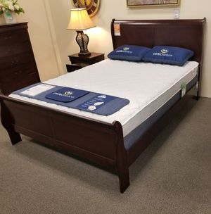 🔔IN STOCK Louis Philip Cherry Panel Bedroom Set for Sale in Silver Spring, MD