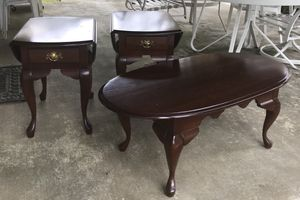 Set of matching solid wood two end tables and coffee table for Sale in Derwood, MD