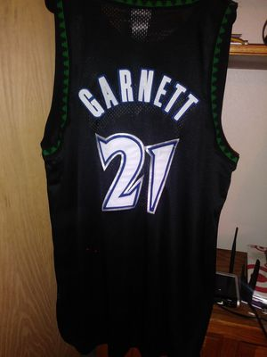Garnett timberwolves jersey authentic nba stitched for Sale in Las Vegas, NV