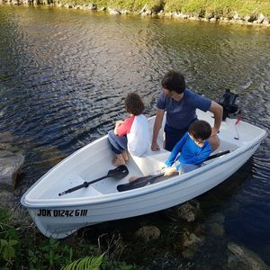 Boat, Motor 5hp, And Boat Trailer for Sale in Miami, FL