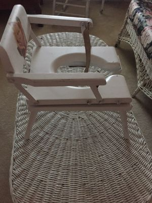Vintage antique child's potty chair for Sale in Weldon Spring, MO