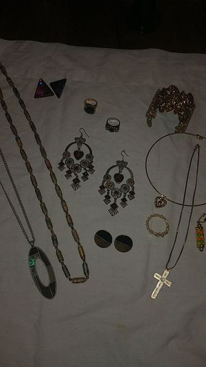 Estate Jewelry Rings, ear rings, necklaces and Bracelets. Bag No 56 for Sale in Austell, GA