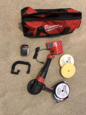"""Milwaukee 2738-22P M18 Fuel 7"""" Variable Speed Polisher Kit w/Pads for Sale in Laguna Niguel, CA"""