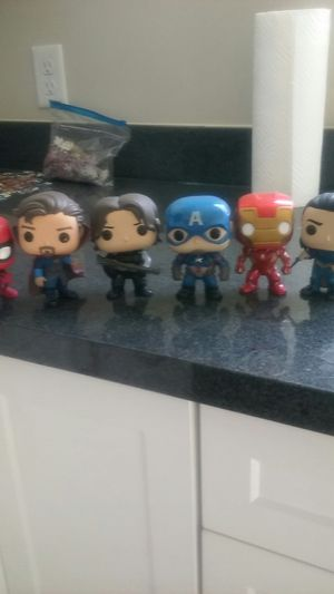 Captain America, Loki, Iron Man, Spider-Man, Bucky Barnes, and Doctor Strange. for Sale in Murray, UT