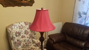 Burgandy floor lamp for Sale in Cleveland, OH