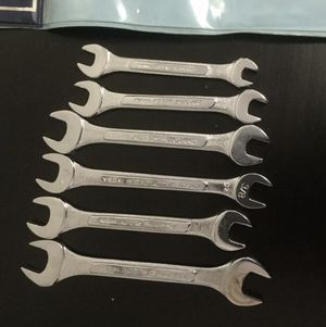 Kmart 5 Piece Metric Open End Wrench Set F#663 Made in Taiwan&1 Made In USA for Sale in Brooklyn, NY